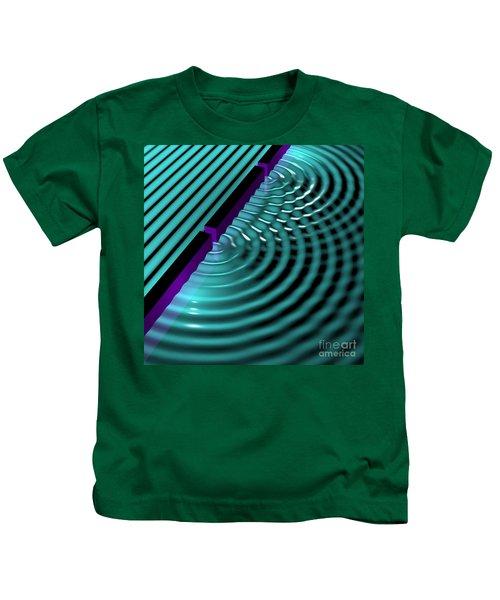 Waves Two Slit 3 Kids T-Shirt
