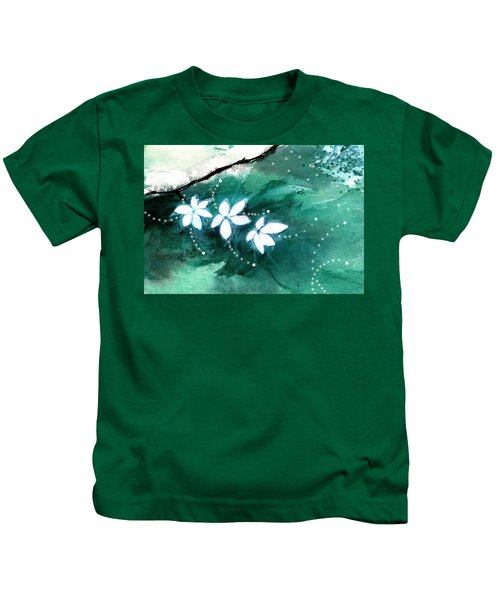 White Flowers Kids T-Shirt
