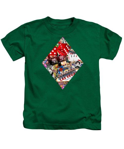 Diamond Playing Card Shape Kids T-Shirt