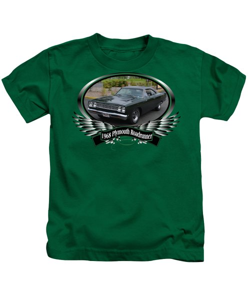 1968 Plymouth Roadrunner Davie Kids T-Shirt