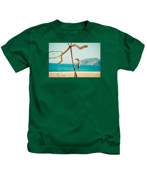 Nature Sculpture At Coast Seascape Artmif.lv Kids T-Shirt