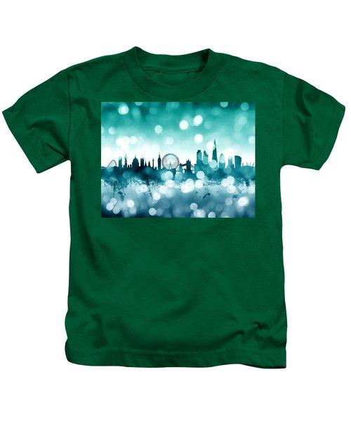 London England Skyline Kids T-Shirt