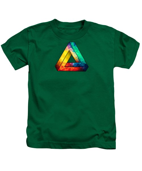 Abstract Color Wave Flash Kids T-Shirt