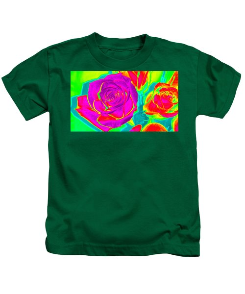 Blooming Roses Abstract Kids T-Shirt