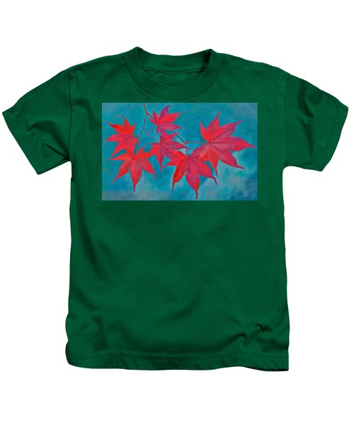 Kids T-Shirt featuring the photograph Autumn Crimson by William Jobes