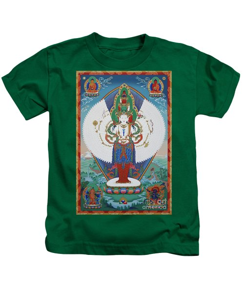 Avalokiteshvara Lord Of Compassion Kids T-Shirt
