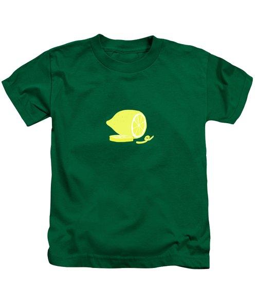 Big Lemon Flavor Kids T-Shirt by Little Bunny Sunshine