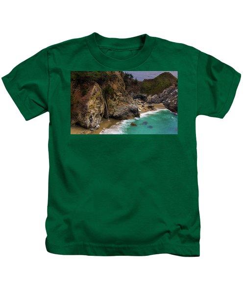 Big Sur Waterfall Kids T-Shirt