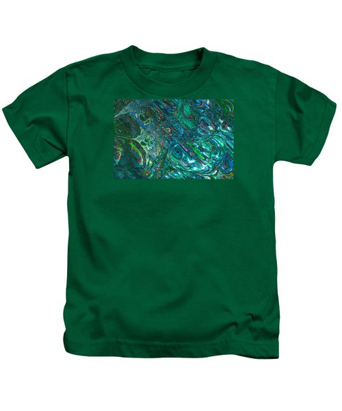 Blue Abalone Abstract Kids T-Shirt