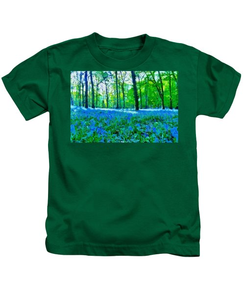 Bluebells In Woodland Kids T-Shirt