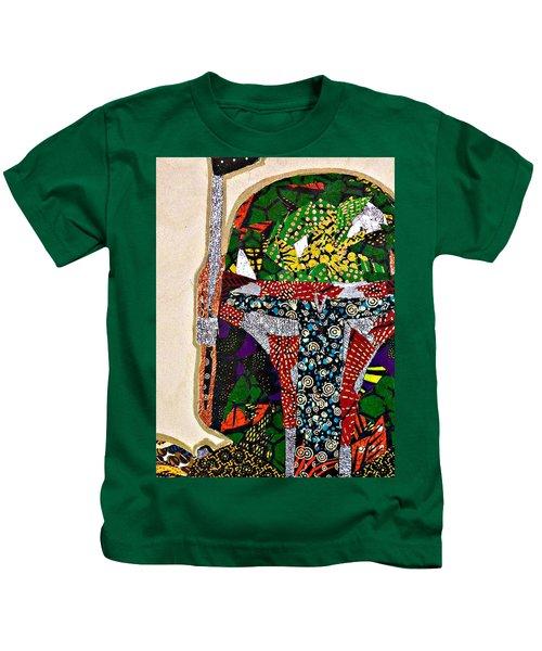 Boba Fett Star Wars Afrofuturist Collection Kids T-Shirt