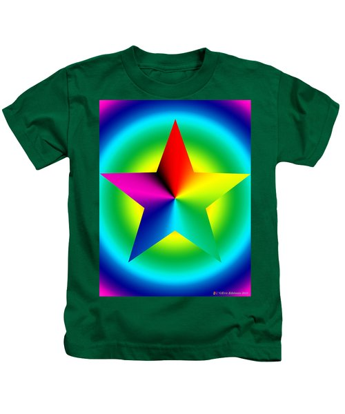 Chromatic Star With Ring Gradient Kids T-Shirt