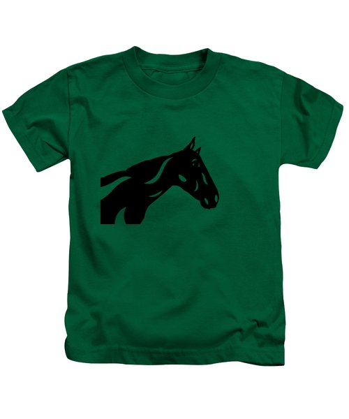 Crimson - Abstract Horse Kids T-Shirt