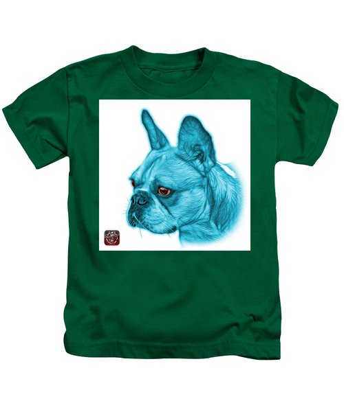 Cyan French Bulldog Pop Art - 0755 Wb Kids T-Shirt