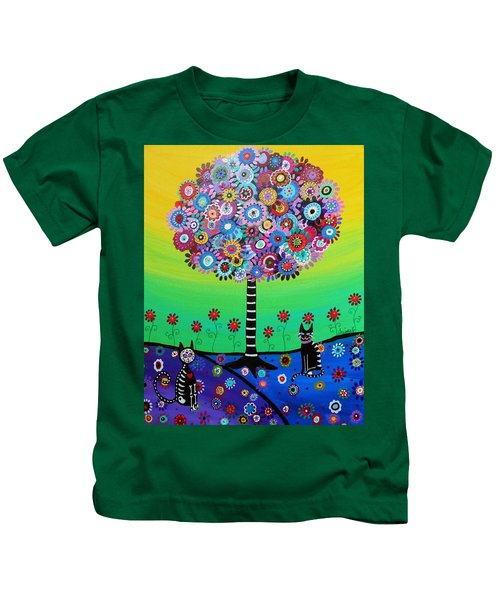 Day Of The Dead Cat'slife Kids T-Shirt