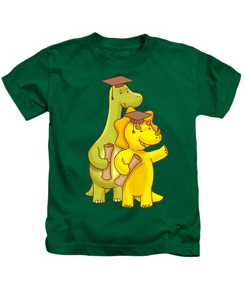 Dinosaur School Graduation Day Kids T-Shirt by Paws Pals