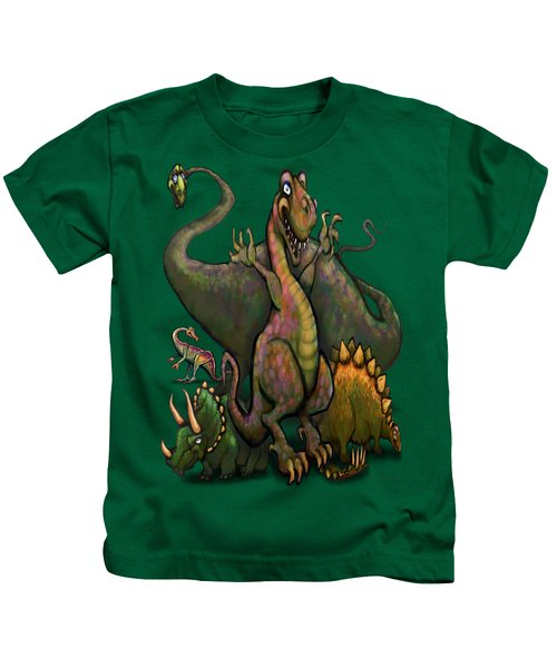 Dinosaurs Kids T-Shirt by Kevin Middleton