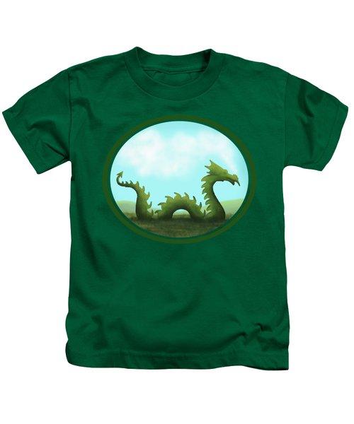 Dream Of A Dragon Kids T-Shirt by Little Bunny Sunshine