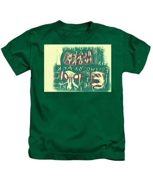 E Cd Grey And Green Kids T-Shirt