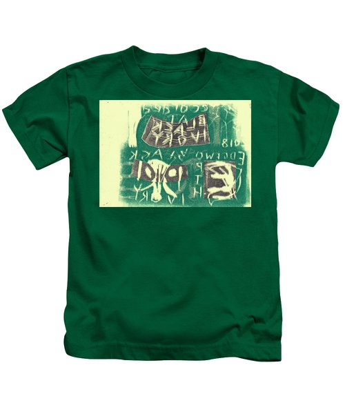 E Cd Grey And Green Kids T-Shirt
