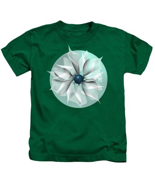 Emerald Flower Kids T-Shirt