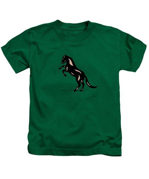 Emma - Pop Art Horse - Black, Hazelnut, Greenery Kids T-Shirt