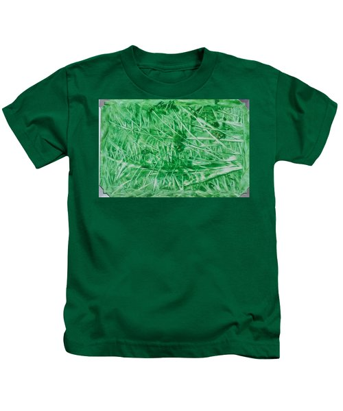 Encaustic Abstract Green Foliage Kids T-Shirt