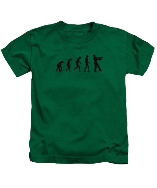 Evolution Of Zombies Zombie Walking Dead Kids T-Shirt