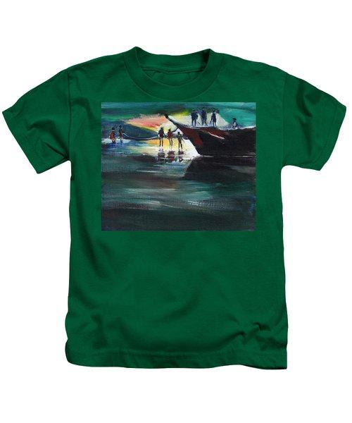 Fishing Line Kids T-Shirt
