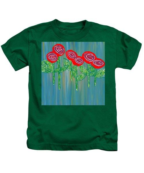 Floating Roses Kids T-Shirt