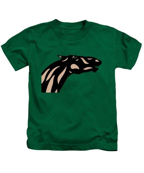 Fred - Pop Art Horse - Black, Hazelnut, Emerald Kids T-Shirt