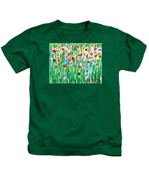 Garden Of Flowers Kids T-Shirt