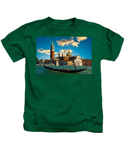 Gondola And San Giorgio Maggiore Kids T-Shirt
