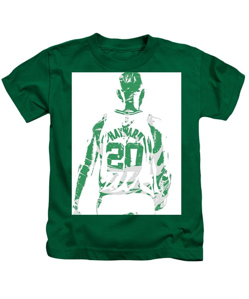 Gordon Hayward Boston Celtics Pixel Art T Shirt 5 Kids T-Shirt