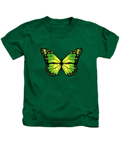 Green Butterfly Kids T-Shirt