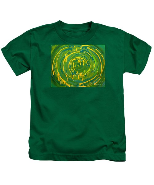 Green Forest Swirl Kids T-Shirt