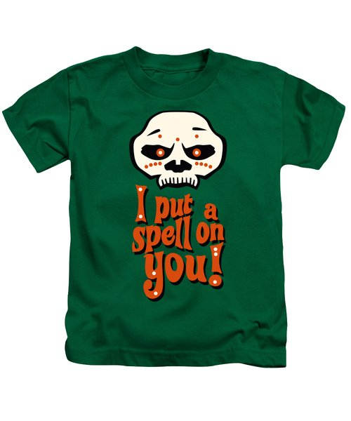 I Put A Spell On You Voodoo Retro Poster Kids T-Shirt