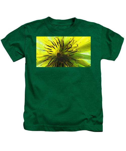 Inside A Yellow Goatsbeard  Kids T-Shirt
