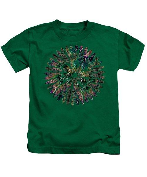 Iridescent Feathers Kids T-Shirt