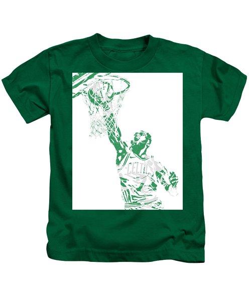 Jaylen Brown Boston Celtics Pixel Art 12 Kids T-Shirt