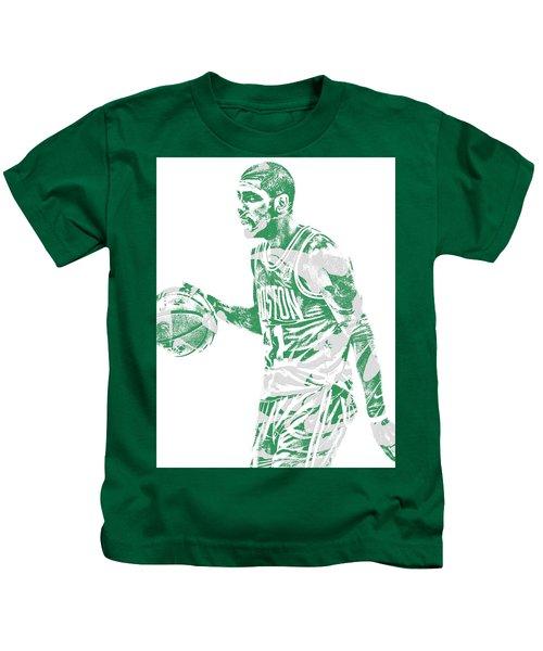 Kyrie Irving Boston Celtics Pixel Art 40 Kids T-Shirt