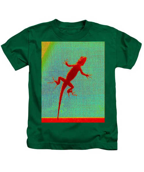 Lizard On The Screen Kids T-Shirt