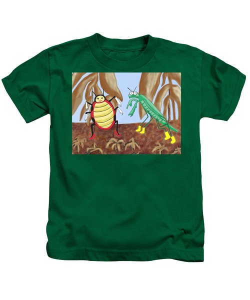 Lucy And Pablo Need A Garden Kids T-Shirt by Jan Watford