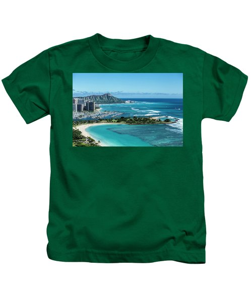 Magic Island To Diamond Head Kids T-Shirt