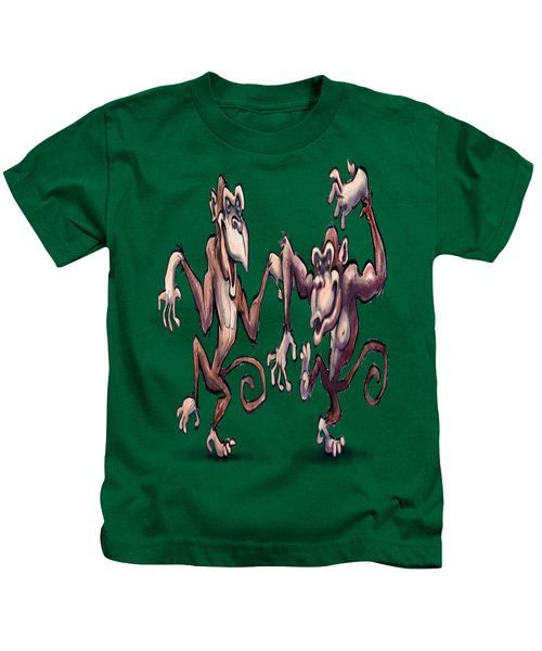 Monkey Dance Kids T-Shirt by Kevin Middleton