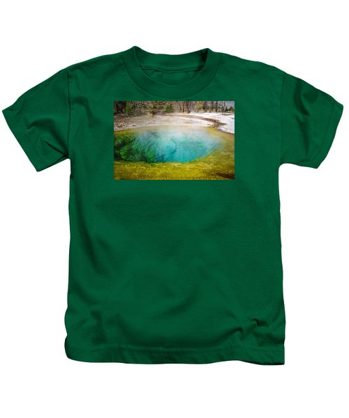 Morning Glory Pool Yellowstone National Park Kids T-Shirt