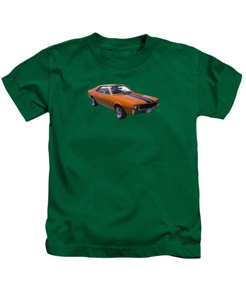 Orange 1969 Amc Javlin Car Kids T-Shirt