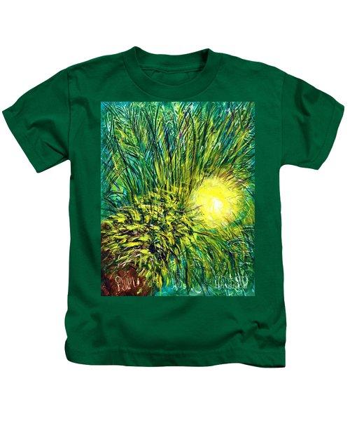 Palm Sunburst  Kids T-Shirt