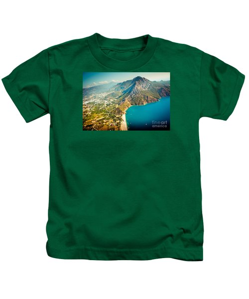 Paragliding Fly Above Laguna Artmif.lv Kids T-Shirt