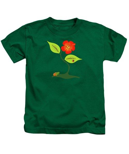 Plant And Flower Kids T-Shirt by Gaspar Avila